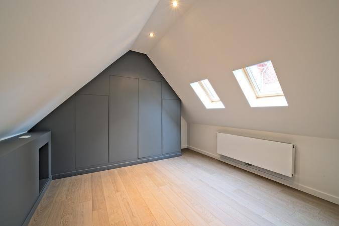 Cette photo montre la rénovation d'une maison à anderlecht (bruxelles) effectuée par l'entreprise 7eme dimension.